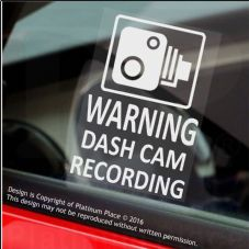 4 x WARNING DASH CAM Recording-60x87mm WINDOW Stickers-Vehicle Camera Security Warning Dash Cam Signs-CCTV,Car,Van,Truck,Taxi,Mini Cab,Bus,Coach